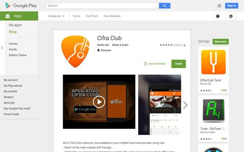 Screenshot of Android App Page google.com - Cifra Club - Android Apps on Google Play - captured Nov. 24, 2015