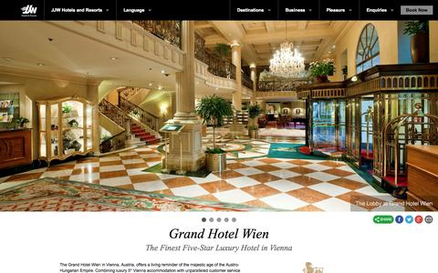 Screenshot of Home Page jjwhotels.com - JJW Hotels & Resorts | Official Website | Best Rates Guaranteed - captured Oct. 4, 2014