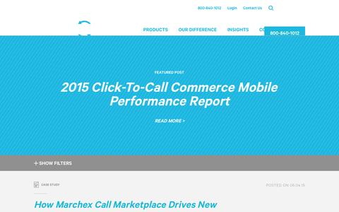 Screenshot of Case Studies Page marchex.com - Insights Archive - Marchex - captured Nov. 19, 2015