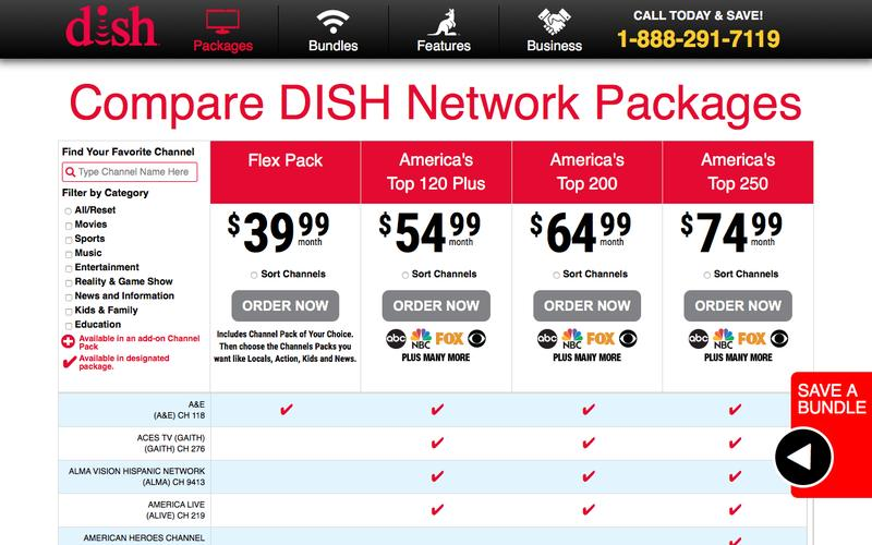 Find your Favorite Channels with DISH Package Comparison