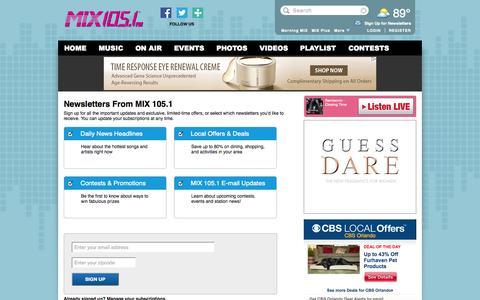 Screenshot of Signup Page cbslocal.com - MIX 105.1 - captured Sept. 19, 2014