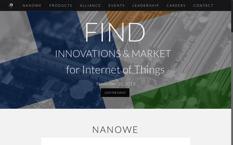 Screenshot of Home Page nanowe.com - NanoWE - captured Oct. 24, 2015