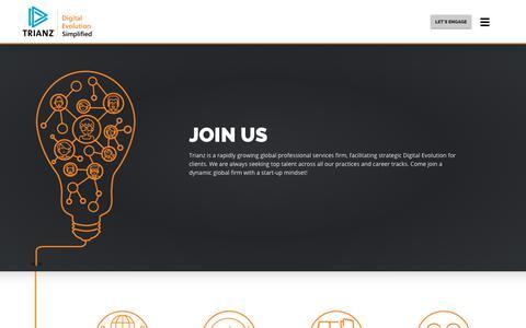 Screenshot of Signup Page trianz.com - Trianz | Business Transformations - captured Oct. 9, 2017