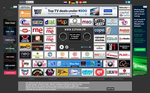 Screenshot of Home Page espana.fm - Espana.FM => Radio Online. Las mejores emisoras de Espana, juntas. - captured Nov. 10, 2018