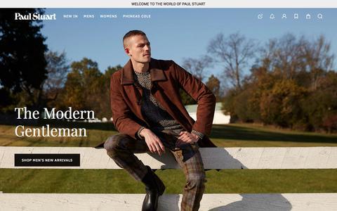 Screenshot of Home Page paulstuart.com - Paul Stuart — Modern Classics, Shop Men's and Women's, Clothing and Accessories. - captured Nov. 7, 2019