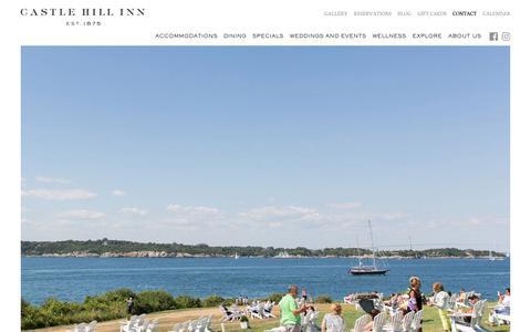 Screenshot of Contact Page castlehillinn.com - Rhode Island Beach Hotel | Castle Hill Inn - captured Sept. 27, 2018