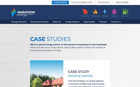 Screenshot of Case Studies Page mecny.com - Case Studies - Marathon Energy - captured Dec. 17, 2019