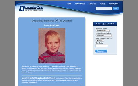 Screenshot of Press Page leader1.com - LeaderOne Financial's News about USA real estate and mortgage markets - captured Oct. 2, 2014