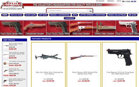 Screenshot of Home Page replicaweaponry.com - Replica Weaponry - captured Aug. 30, 2015