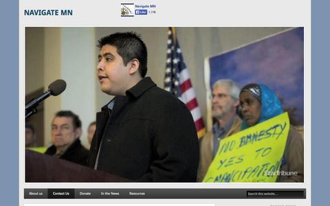 Screenshot of Contact Page navigatemn.org - Contact Us - captured Sept. 30, 2014