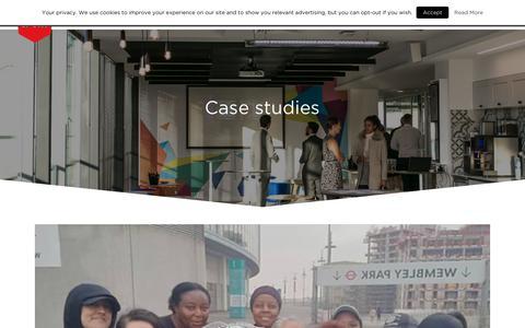 Screenshot of Case Studies Page londonsport.org - Case studies Archives - London Sport - captured July 23, 2018
