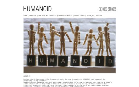 Screenshot of About Page humanoid.nl - about us › HUMANOID - captured Sept. 24, 2014