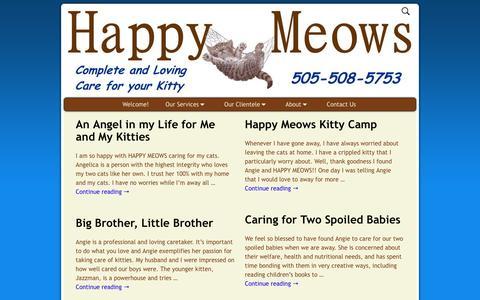 Screenshot of Testimonials Page happymeows.com - Testimonials – Happy Meows - captured May 11, 2017
