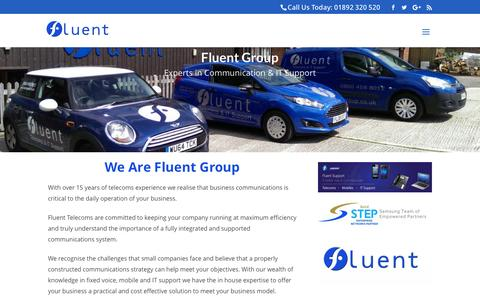 Screenshot of About Page fluent-group.co.uk - Who We Are | Fluent Technologies Ltd - captured Nov. 25, 2016