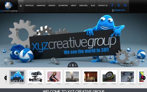Screenshot of Home Page xyzcreativegroup.com - XYZ Creative Group - captured Oct. 7, 2014
