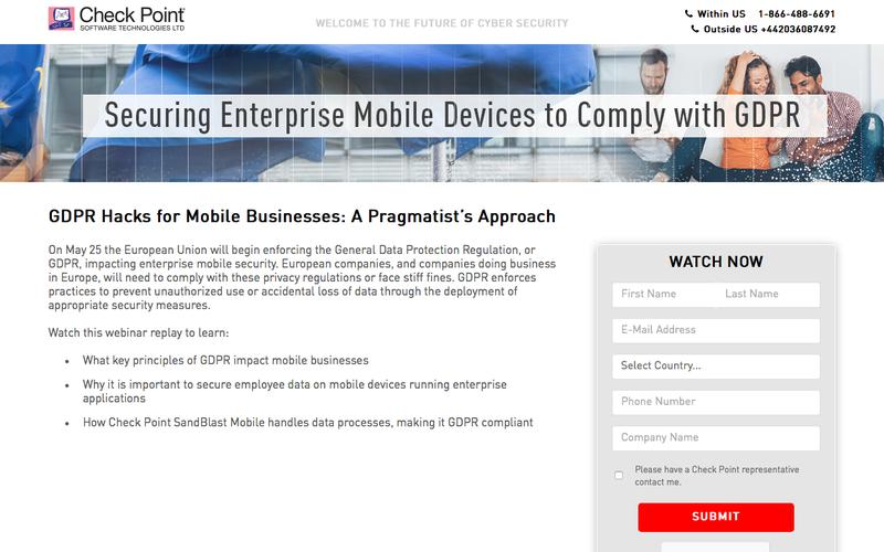 GDPR Hacks for Mobile Businesses: A Pragmatist's Approach | Check Point Software