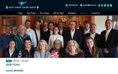 Screenshot of Team Page ecys.com - Our Team - captured Dec. 13, 2018