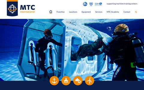 Screenshot of Home Page mtc-int.net - MTC International OPITO accelerator program - captured Sept. 12, 2015