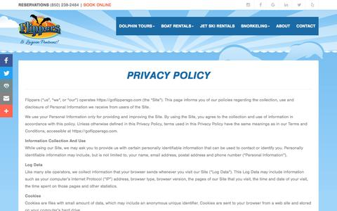 Screenshot of Privacy Page goflippersgo.com - Privacy Policy - captured May 1, 2017