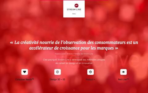 Screenshot of Home Page streamline.fr - Streamline - captured Feb. 25, 2016