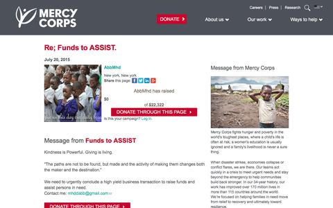 Screenshot of Team Page mercycorps.org - Donate to Mercy Corps - captured April 20, 2018
