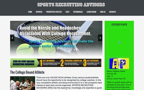 Screenshot of Home Page sportsrecruitingadvisors.com - Sports Recruiting Advisors :: Home - captured Aug. 14, 2015