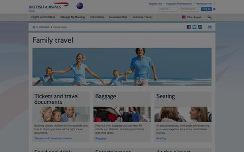 Family travel | British Airways