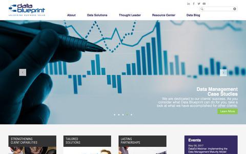 Screenshot of Home Page datablueprint.com - datablueprint - captured June 3, 2017