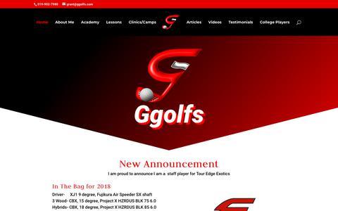Screenshot of Home Page ggolfs.com - Ggolfs | The Future of Golf Instruction - captured July 18, 2018