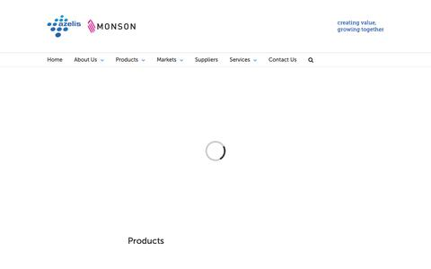 Screenshot of Products Page monsonco.com - Products - Monson Companies - captured Oct. 19, 2018