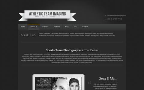 Screenshot of About Page athleticteamimaging.com - Sports Team Photographers   Sports Photography Companies   High School Sports Photographers   School Sport Photography    Athletic Team Imaging - captured Sept. 30, 2014
