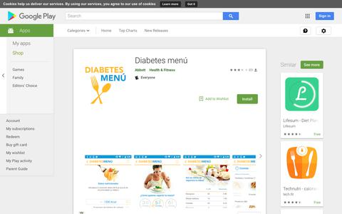 Diabetes menú - Apps on Google Play