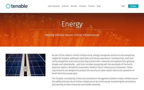 Energy | Tenable™