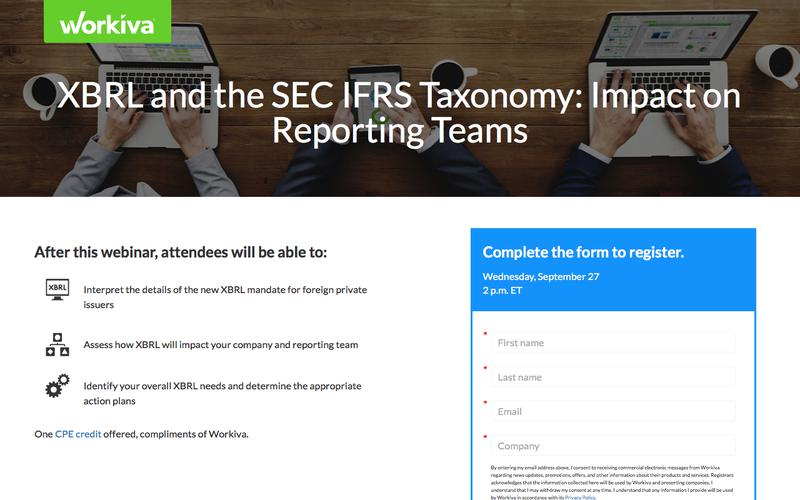 XBRL and the SEC IFRS Taxonomy: Impact on Reporting Teams  | Workiva