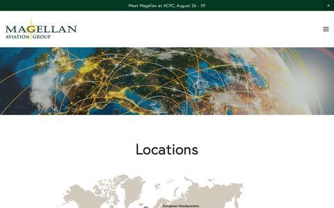 Screenshot of Locations Page magellangroup.net - Locations — Magellan Aviation Group - captured Sept. 26, 2017