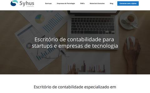 Screenshot of Home Page syhus.com.br - Escritório de Contabilidade para Startups e Empresas de Tecnologia - Syhus - captured Jan. 11, 2017