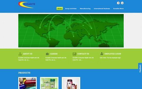 Screenshot of Home Page euradite.com - Euradite Consumer Health And Life Care Pvt. Ltd | Euradite Consumer Health And Life Care Pvt. ltd - captured Oct. 3, 2014