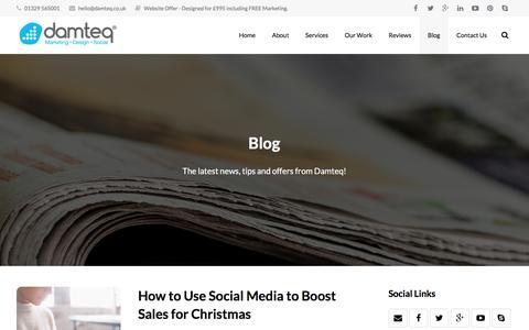 Screenshot of Blog damteq.co.uk - Creative Design Blog from Leading Digital Agency - captured Nov. 12, 2015
