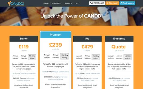 Screenshot of Pricing Page canddi.com - Redirecting... - captured June 16, 2015
