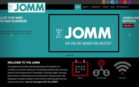 Screenshot of Home Page thejomm.com - The JOMM - Jacksonville Online Marketing MeetUp - captured Sept. 6, 2015