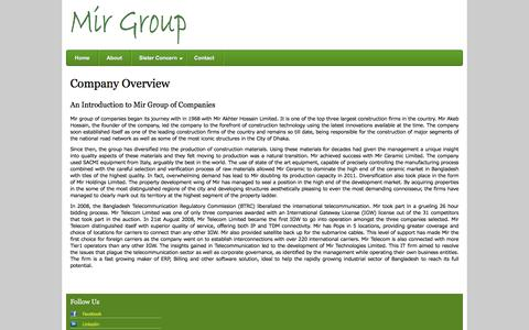 Screenshot of About Page mirgroupltd.com - About | Mir Group - captured March 26, 2016