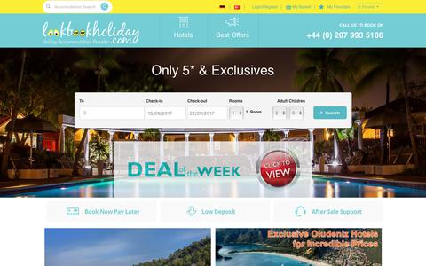 Screenshot of Home Page lookbookholiday.com - Holiday Accommodation Provider - captured Sept. 8, 2017