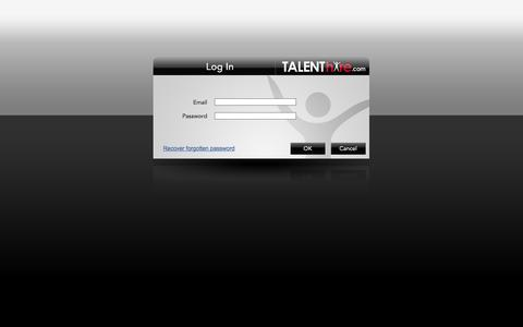 Screenshot of Login Page talenthire.com - TALENThire.com - Recruiting Vendor Management - captured Oct. 9, 2014