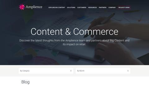 Screenshot of Blog amplience.com - Blog - Amplience - captured July 3, 2016