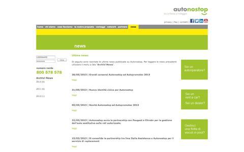 Screenshot of Press Page autonostop.it - autonostop - news - captured Sept. 30, 2014