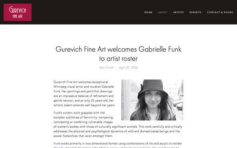 Screenshot of Press Page gurevichfineart.com - News — Gurevich Fine Art - captured July 19, 2016