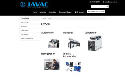 Screenshot of Products Page javac.com.au - Store - captured Oct. 13, 2018