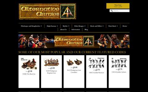 Screenshot of Home Page alternative-armies.com - Alternative Armies | Alternative Armies Online - captured Oct. 10, 2015