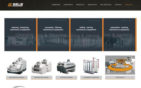 Screenshot of Products Page selis.com.tr - Selis | Real Innovation - captured July 21, 2016