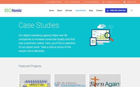 Screenshot of Case Studies Page seotonic.com - Section: Case Studies - SEO Tonic - captured July 2, 2017